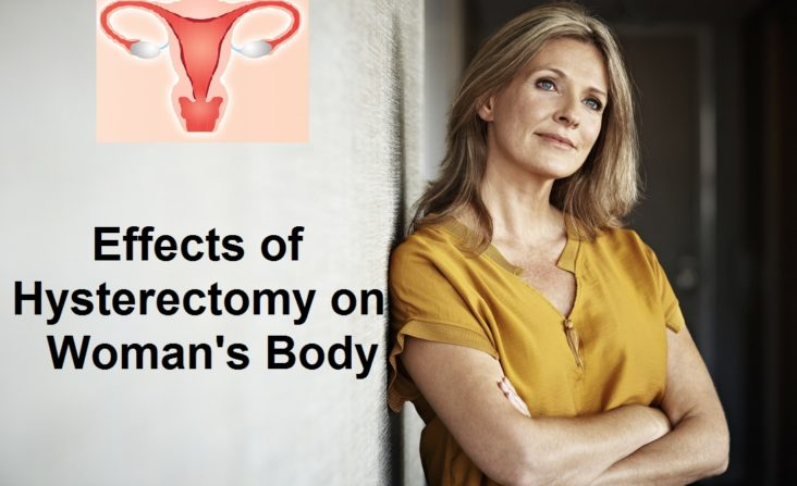 Woman body changes after hysterectomy